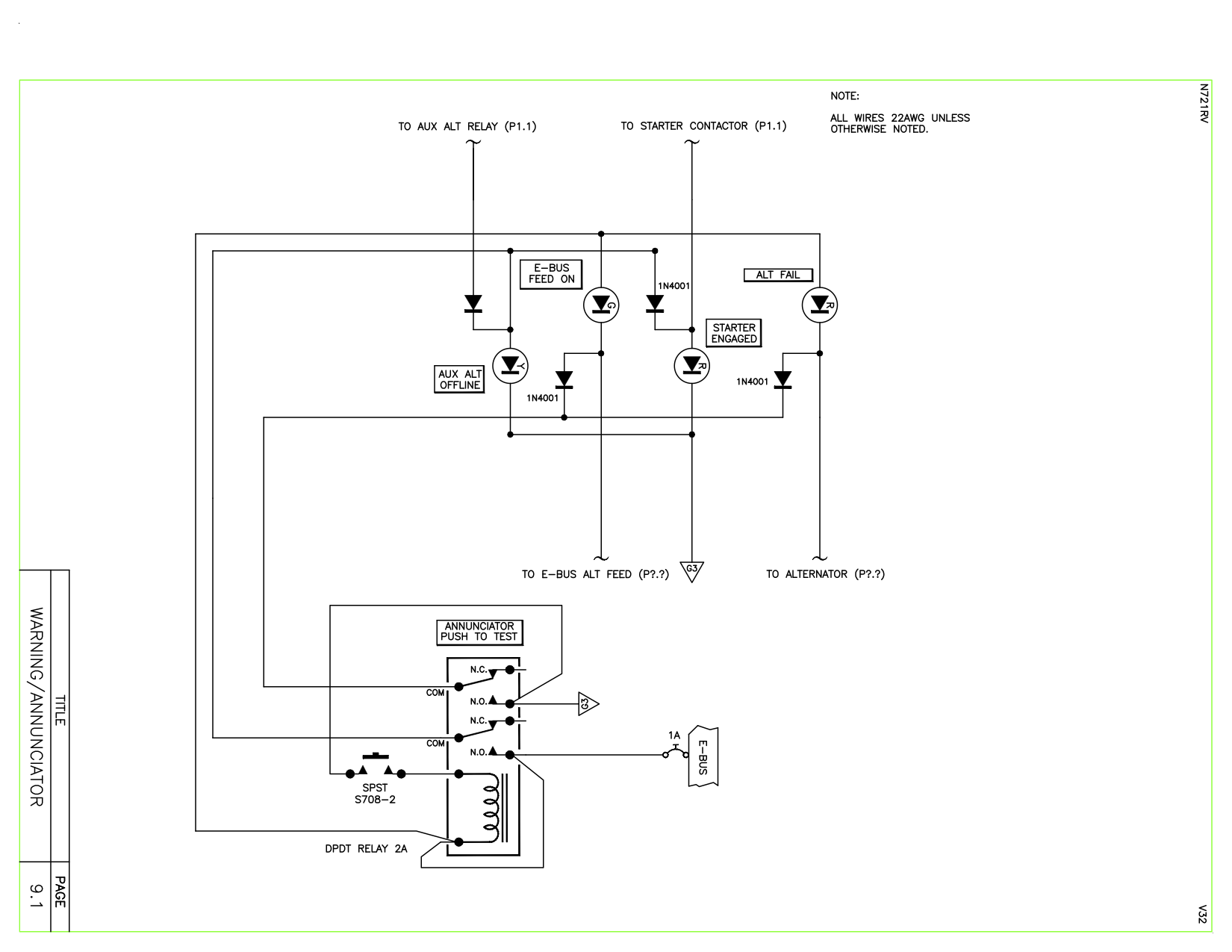 Aeroelectric List Archive Browser Dpdt Relay Schematic Symbol Safety Relays Te Connectivity I Just Need A Simple Push To Test Circuit For Few Leds Have Thanks Matt Read This Topic Online Here