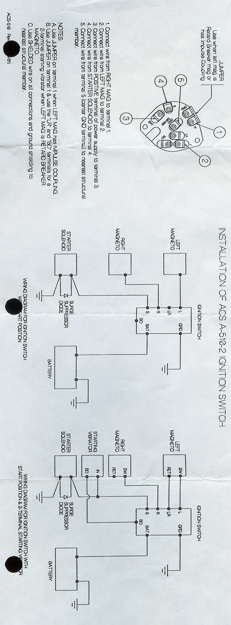 matronics email lists view topic wiring diagram for slick start with 2 slick mags